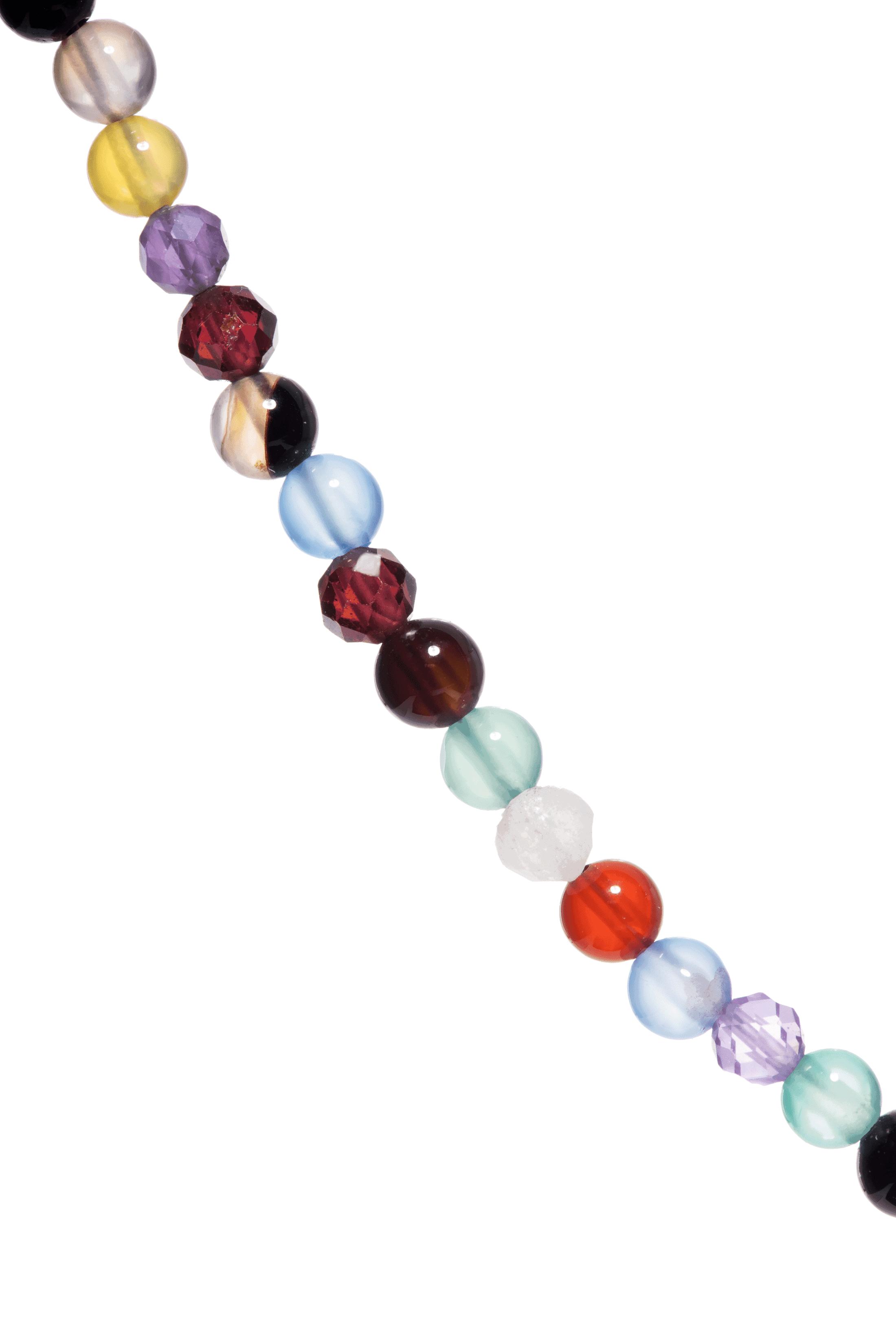 Naszyjnik z kolorowych kamieni naturalnych.