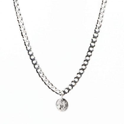 Srebrny naszyjnik z zawieszką Księżyc