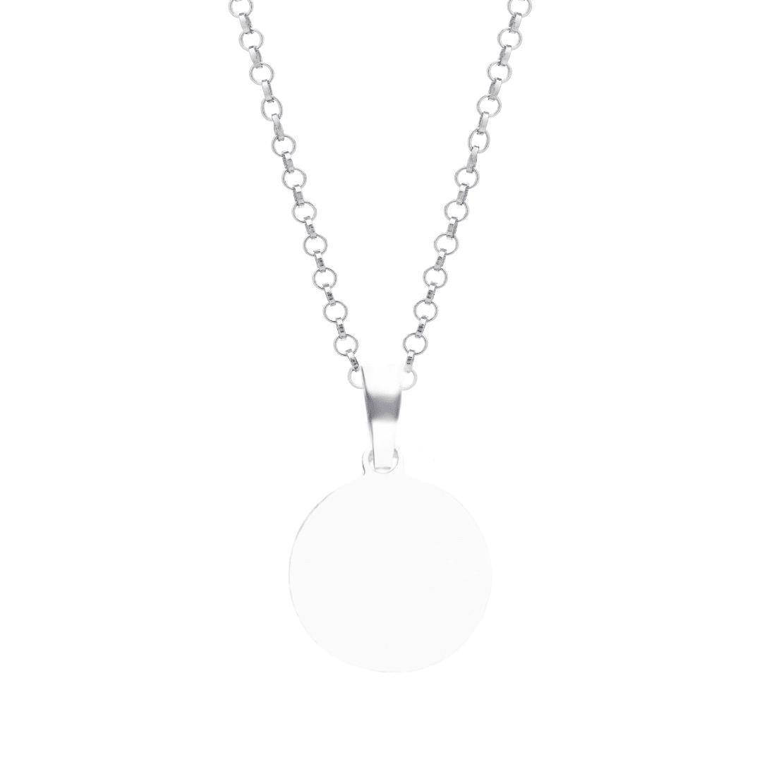 Srebrny naszyjnik z grawerem biżuteria personalizowana