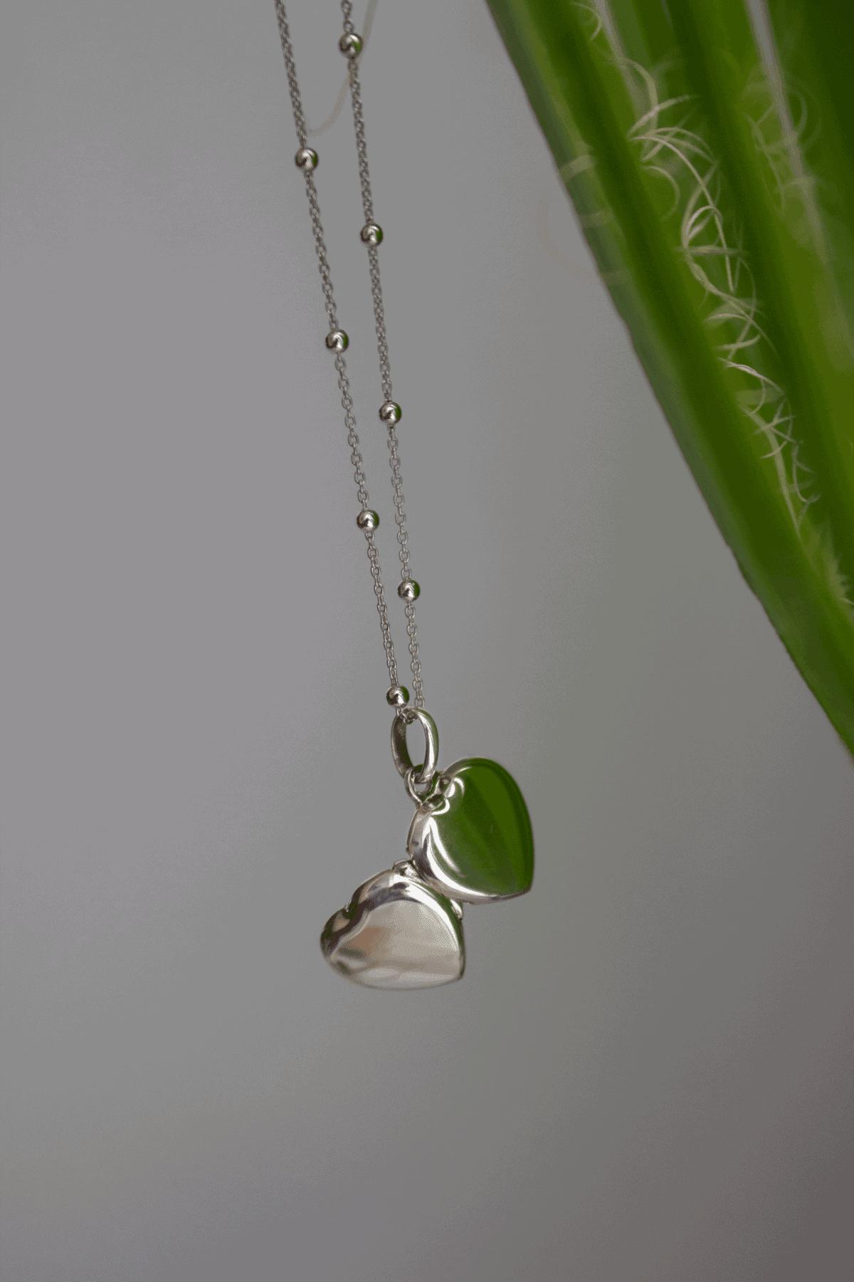 Srebrna zawieszka na zdjęcie w kształcie serca