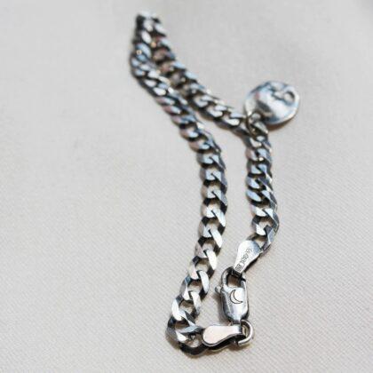 Srebrna bransoletka z zawieszką Księżyc