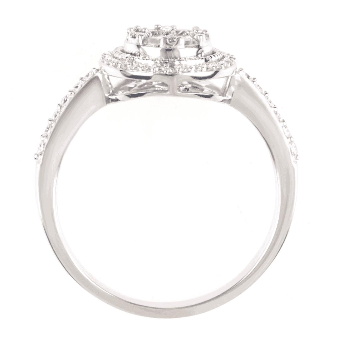 Zaręczynowy pierścionek z białego złota z diamentami