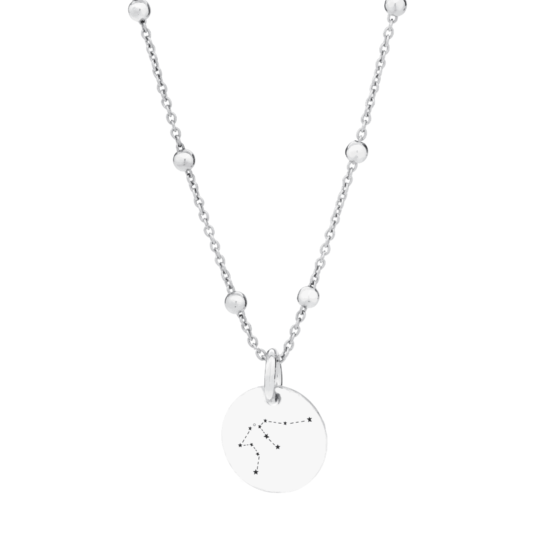 Srebrny naszyjnik z grawerem zodiak