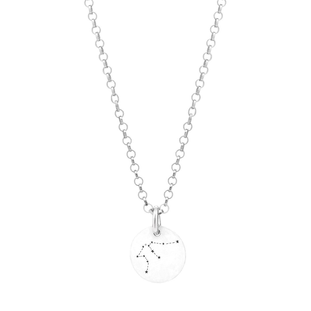 Srebrny naszyjnik z zodiakiem Wodnika