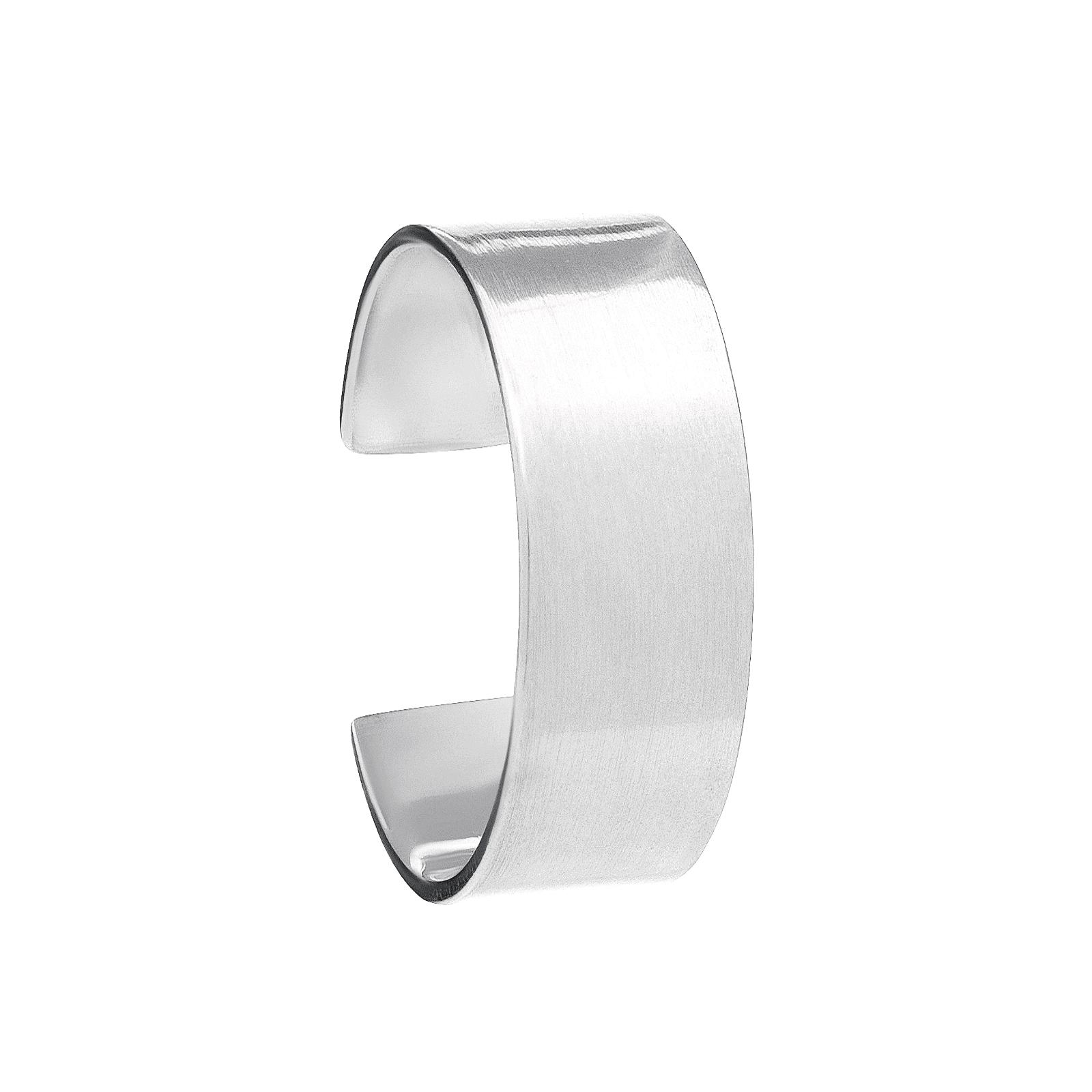 Srebrna nausznica ręcznie robiona biżuteria autorska.
